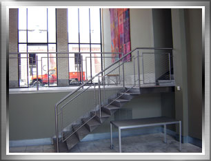 Stainless steel railing and stairway