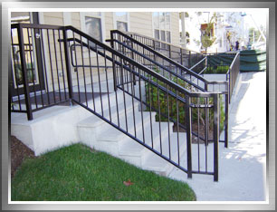 Awesome Entrance Stair Railings And Handicap Railings For Boston Area Apartment  Building